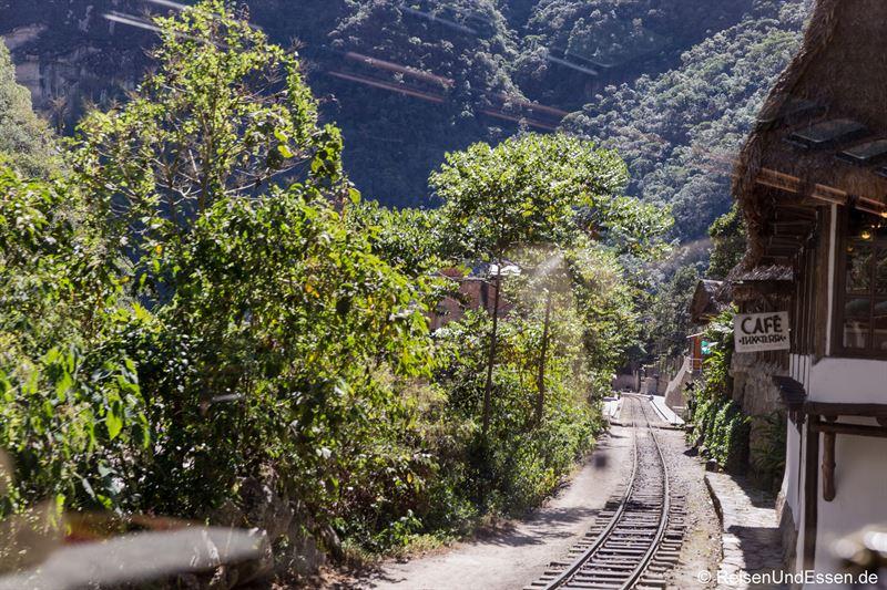 Einfahrt des Zug nach Aguas Calientes