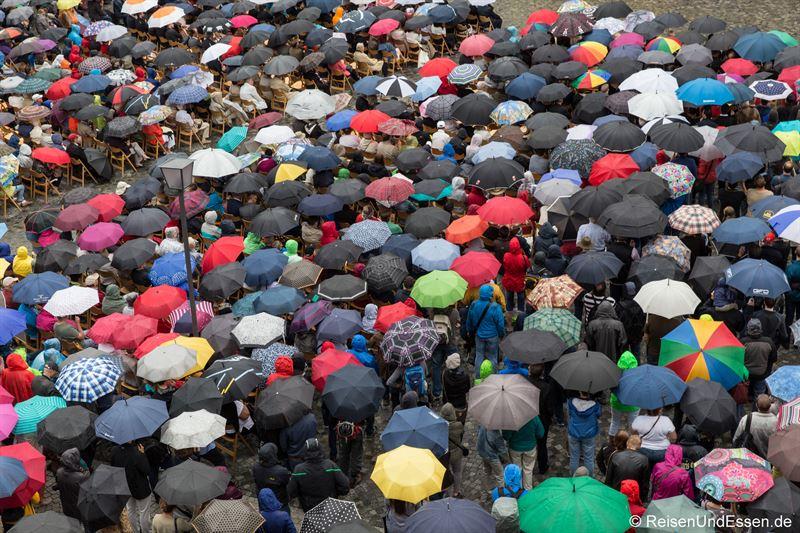 Regen am Schwörmontag in Ulm