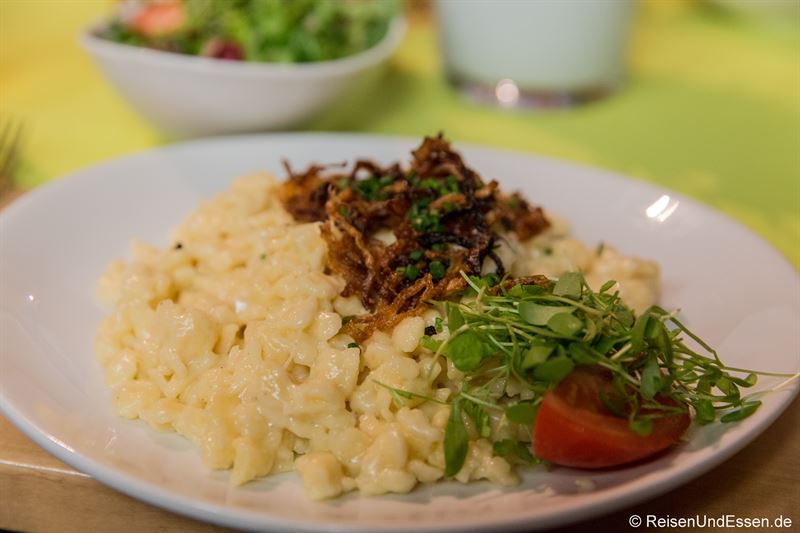 Käsespätzle im Restaurant Zunfthaus der Schiffleute