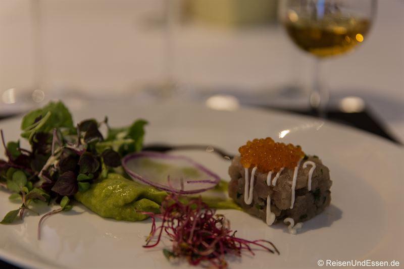 Tatar vom Whisky-Thunfisch bei Taste Moments im Maritim München