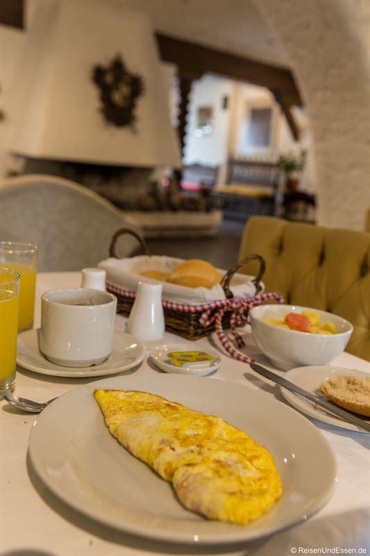 Omelette zum Frühstück im Huaca Wasi Hotel Boutique in Lima