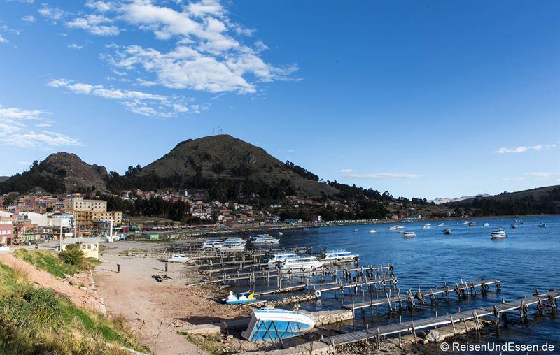 Bucht von Copacabana am Titicacasee