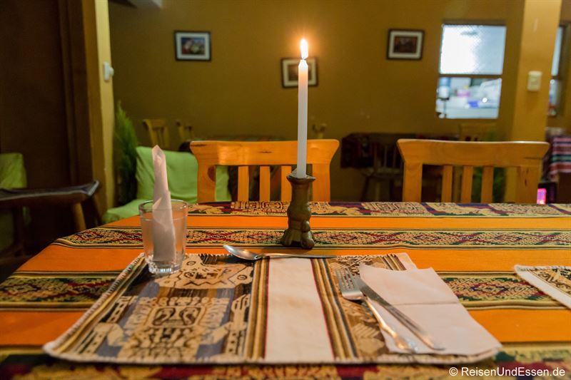 Abendessen in der Puma Punku Ecolodge