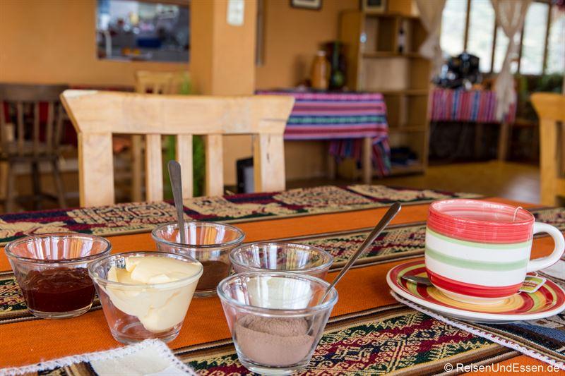Frühstück im Hostel auf der Isla del Sol