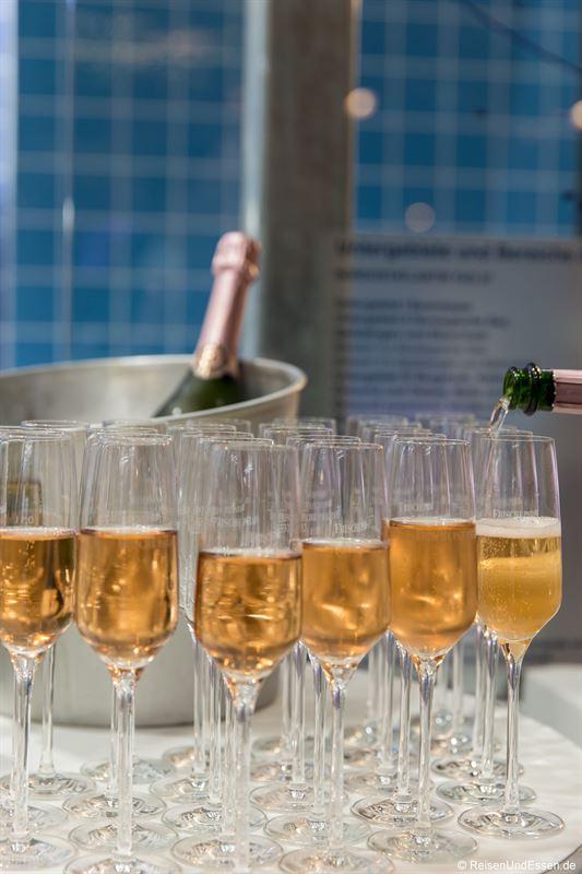 Champagnerempfang im Frischeparadies