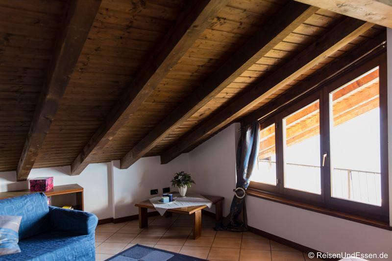 Schlafzimmer in der Ferienwohnung am Comer See in Gravedona