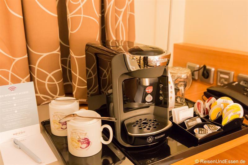 Kaffeemaschine im Privilege-Zimmer im Mercure Hotel Mannheim
