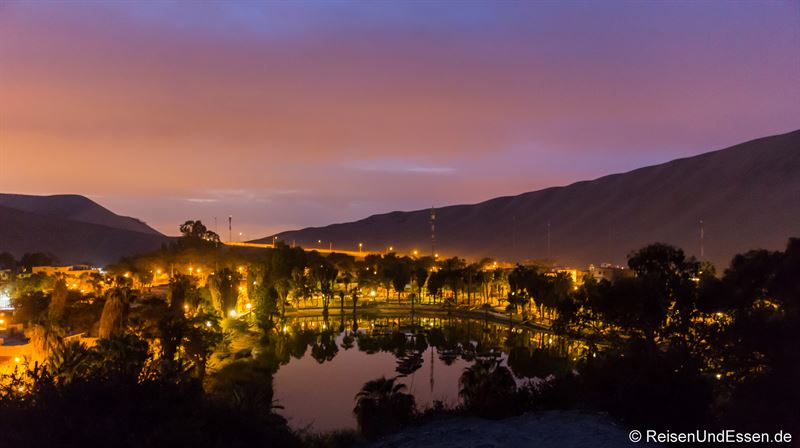 Sonnenaufgang in der Oase Huacachina