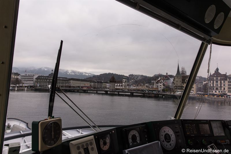 Rückfahrt vom Bürgenstock in der Schiffsbrücke
