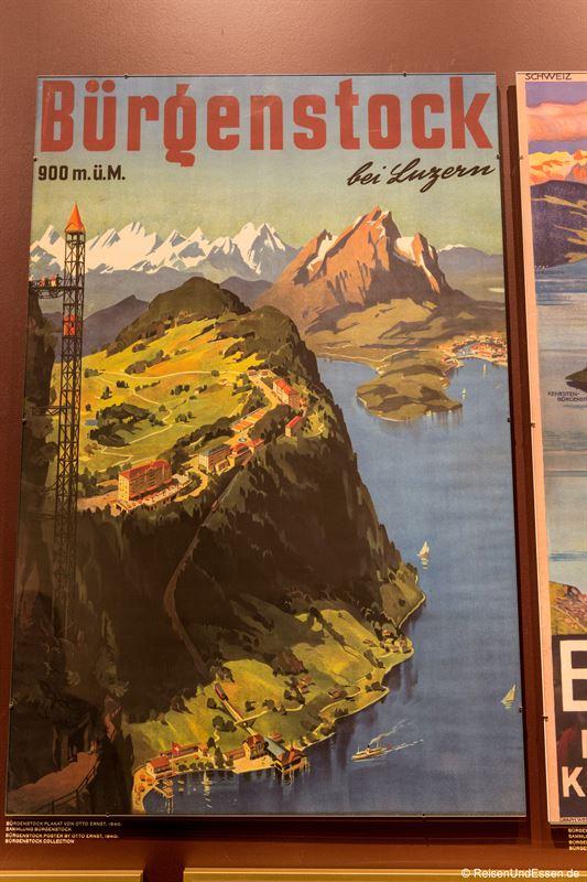Altes Poster über den Bürgenstock