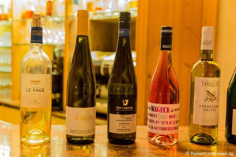 Korrespondierende Weine zum Dinner im Inszenario Restaurant
