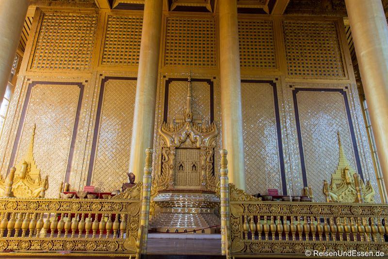 Thron im Kanbawzathadi Palast in Bago