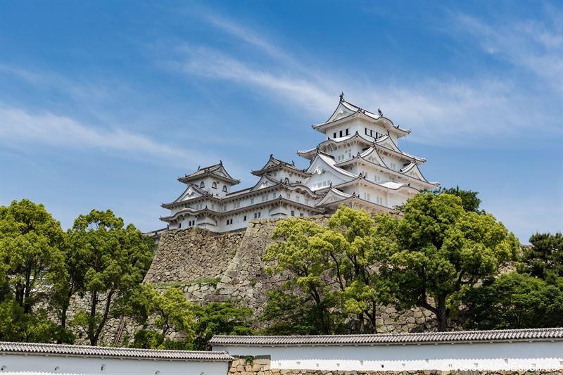 Blick auf Burg Himeji