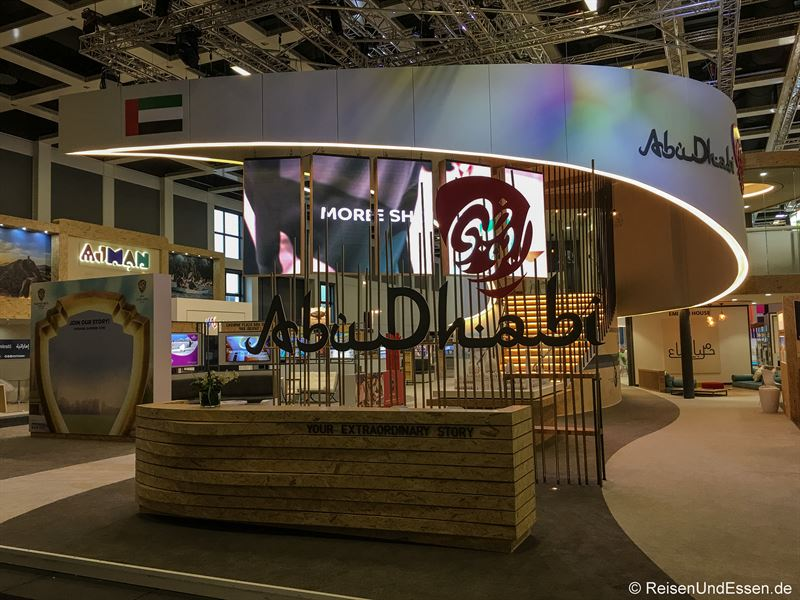 Stand von Abu Dhabi auf der ITB in Berlin