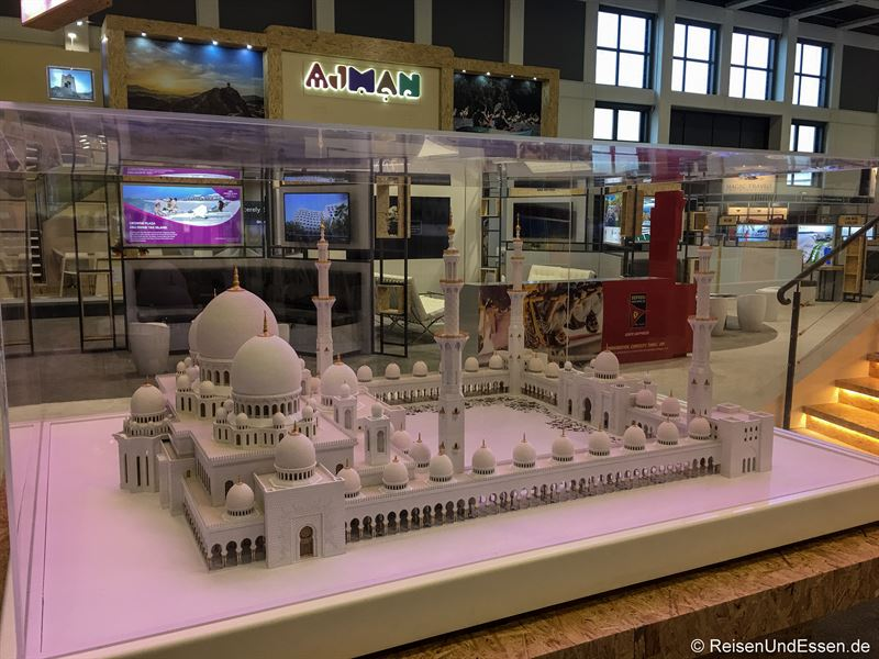 Modell der Moschee in Abu Dhabi