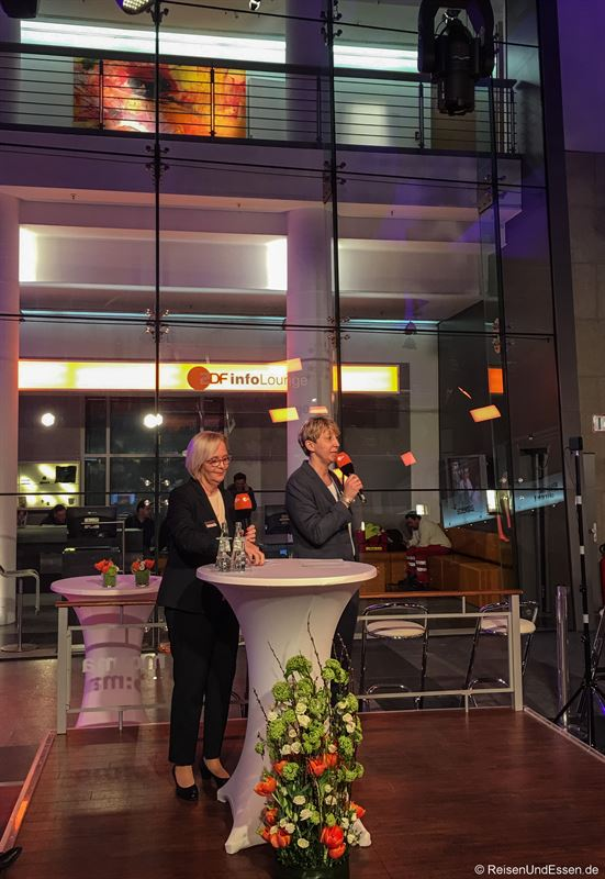 Gabriele Frijio und Anja Wendling auf dem ITB Medientreff der Gastlandschaften Rheinland-Pfalz