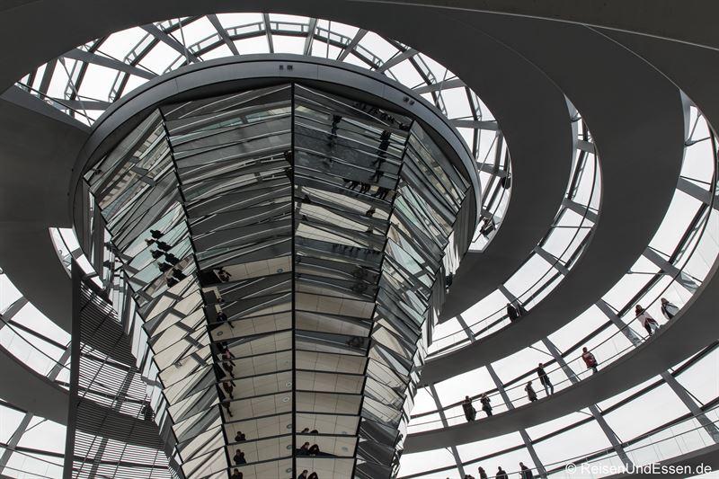 Blick in die Reichtagskuppel in Berlin
