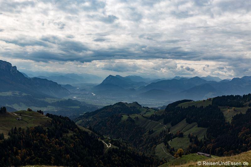 Blick von der Karspitze Richtung Inntal und Kufstein