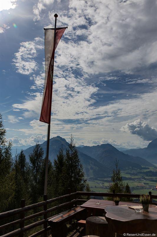 Blick von der Taubenseehütte im Kaiserwinkl