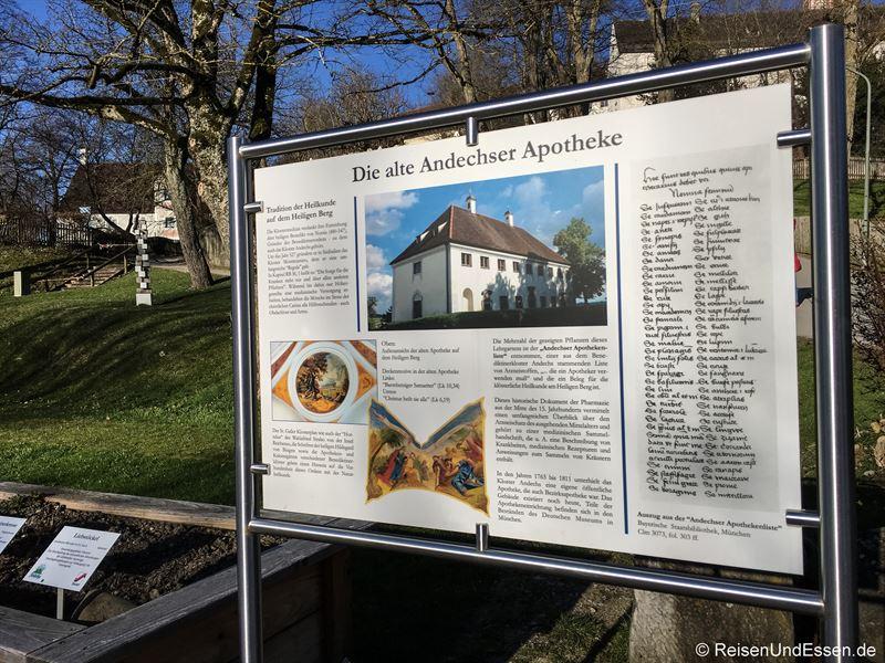 Andechser Apotheke im Klostergarten