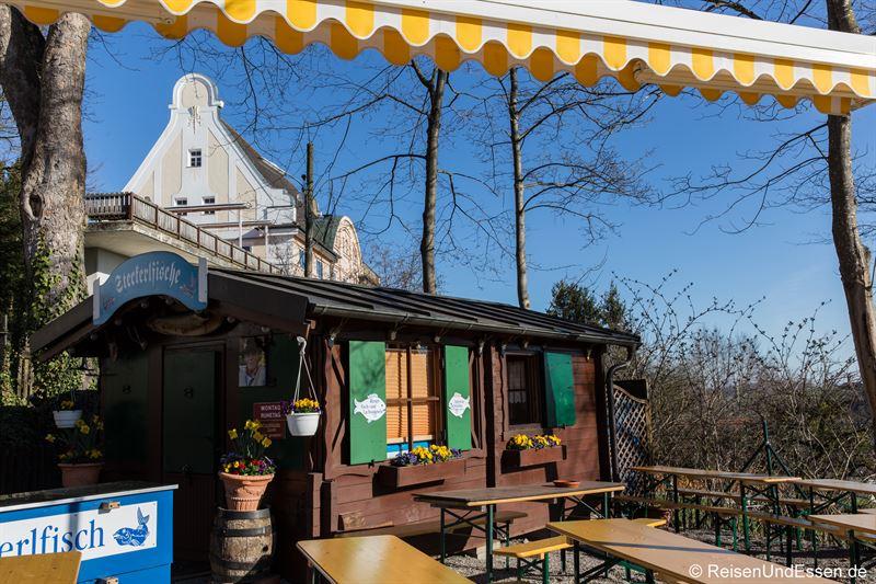 Biergarten im Kloster Andechs