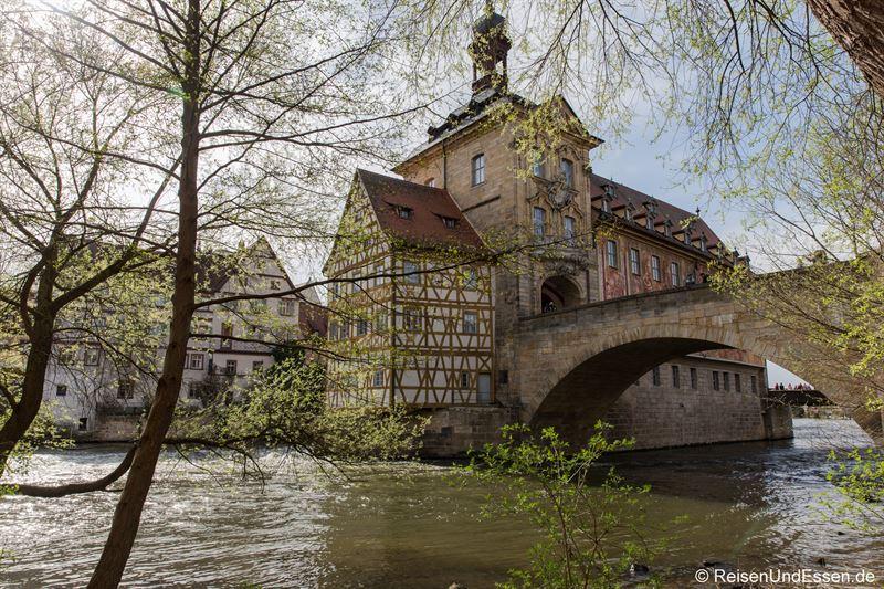 Altes Rathaus und Obere Brücke über die Regnitz