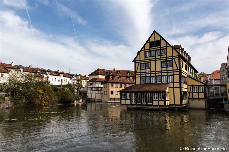 Blick von der Bischofsmühlbrücke in Bamberg