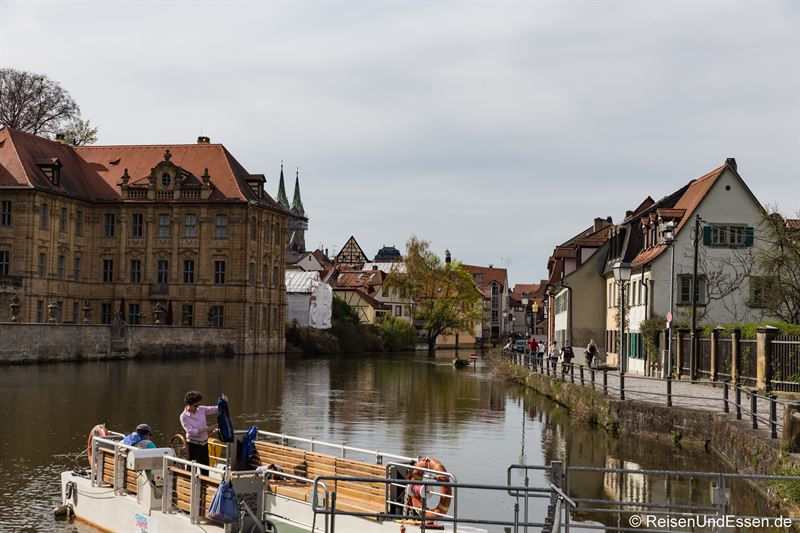 Fähre über den linken Regnitzarm in Bamberg