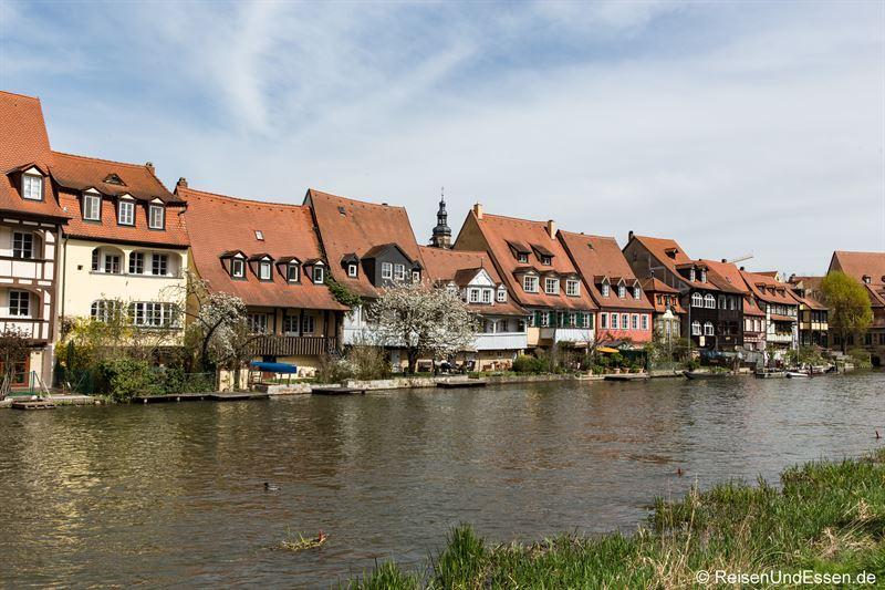 Fischerhäuser bei Klein Venedig am linken Regnitzarm
