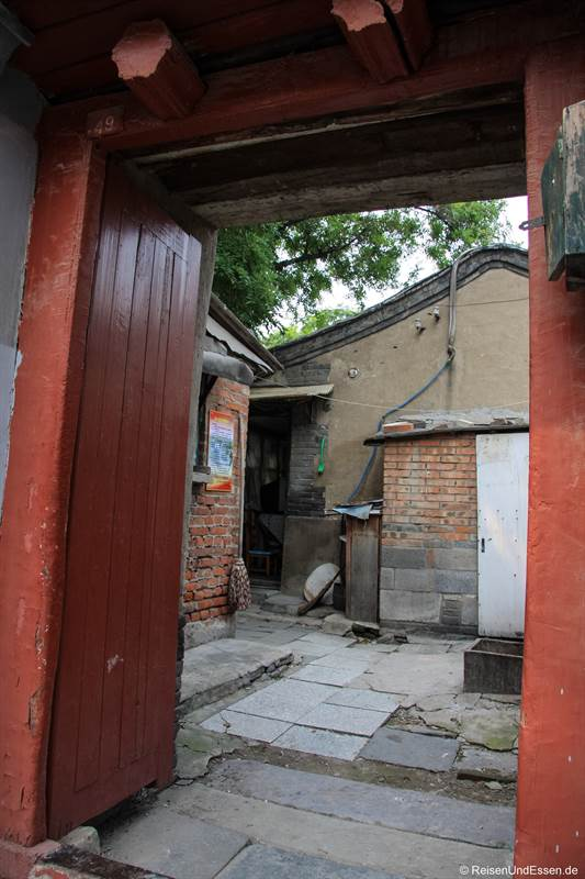 Eingang in einen Hutong in Beijing