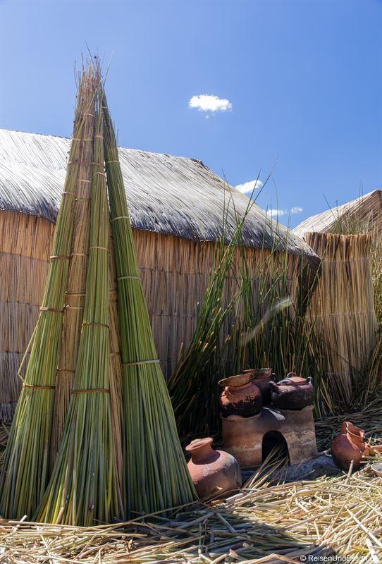 Kochstelle der Uros Summa Paqari Lodge auf dem Titicacasee