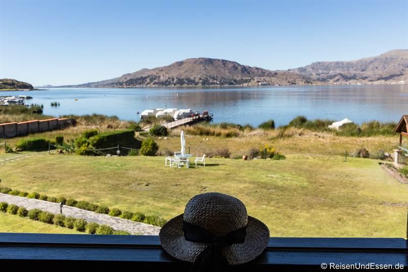 Blick vom Hotel Sonesta Posadas del Inca Puno
