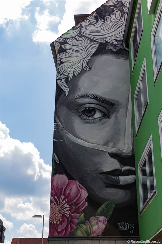 Graffiti an einer Hauswand in Hannover