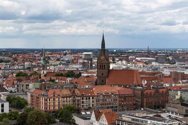 Blick vom neuen Rathaus auf die Altstadt