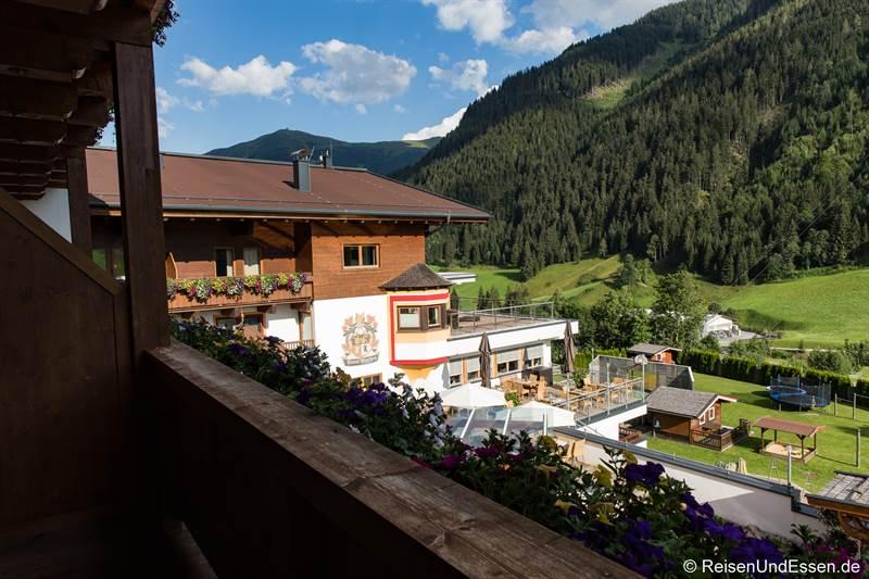 Aussicht vom Balkon im Hotel Marten