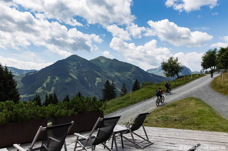 Tour mit dem Mountain Bike in Saalbach-Hinterglemm