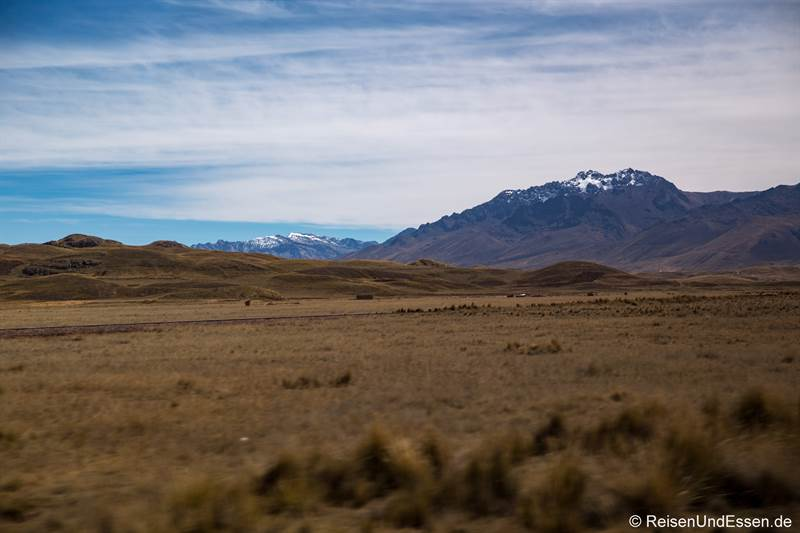 Hochebene auf der Fahrt von Puno nach Cusco