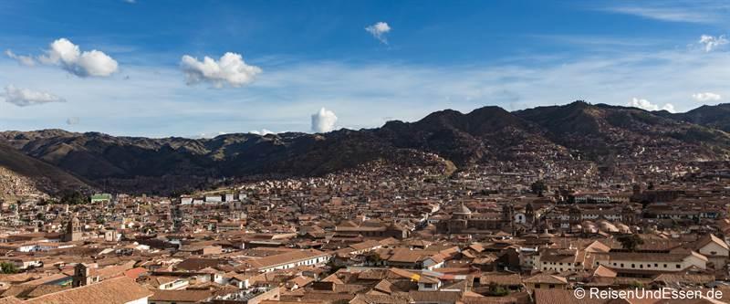Panoramablick über Cusco von San Blas