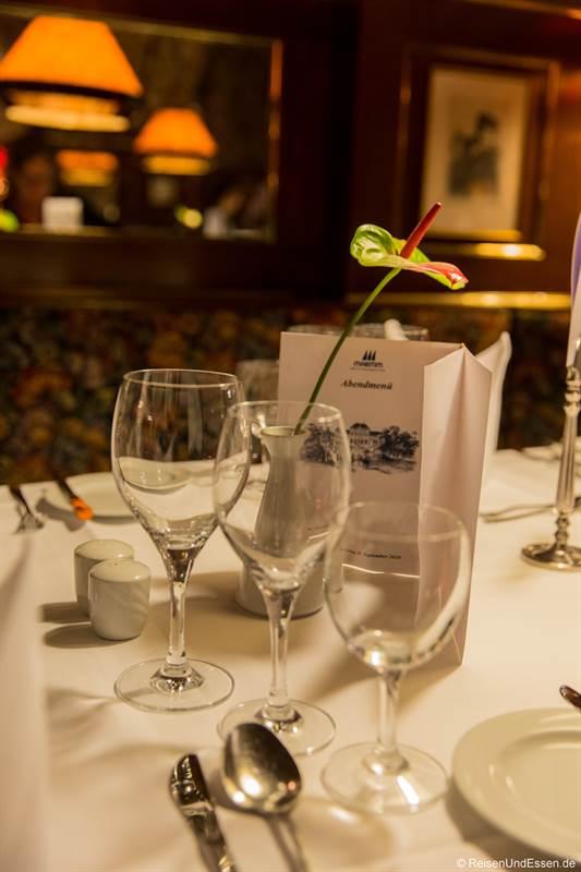 Abendmenü im Restaurant Dianakeller