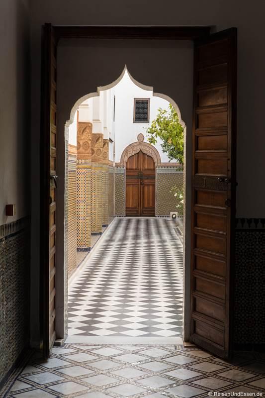 Blick in den Innenhof im Dar El Bacha