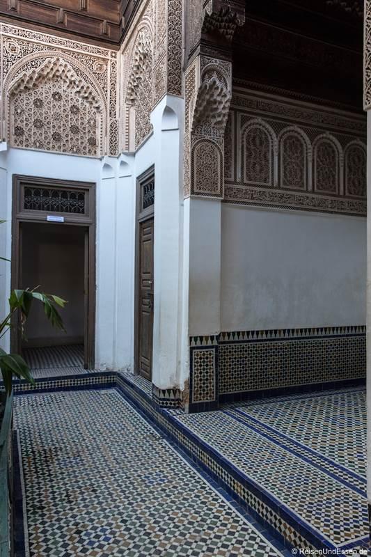 Raum im Bahia Palast in Marrakesch