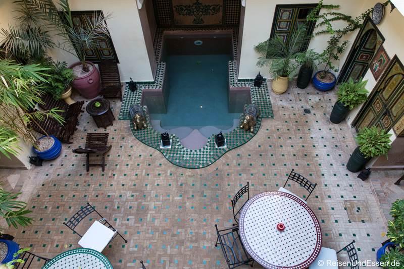 Innenhof im Riad Julia in Marrakesch