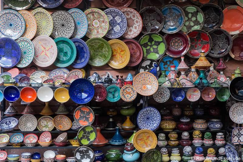 Souvenirs in den Souks von Marrakesch
