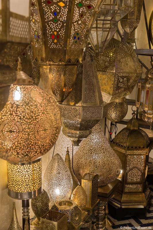 Lampen in den Souks von Marrakesch