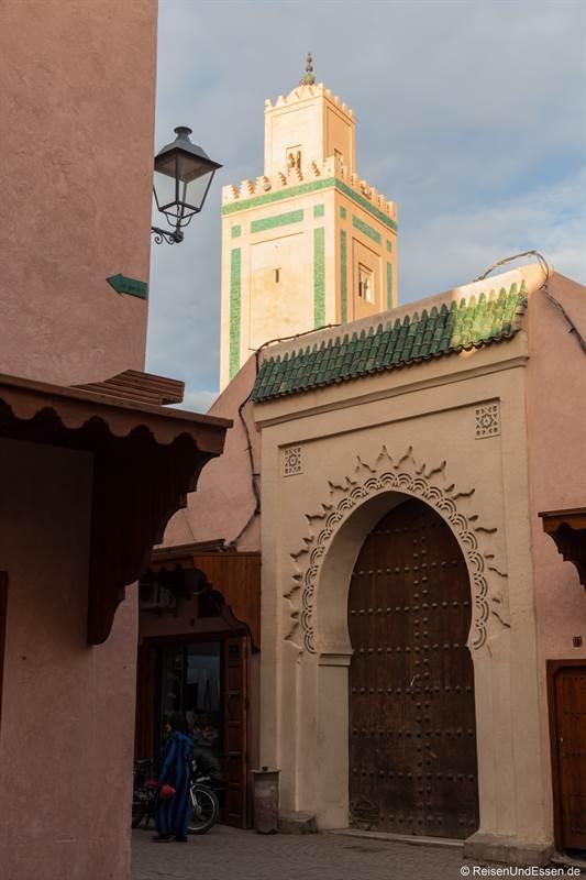Moschee in den Souks von Marrakesch