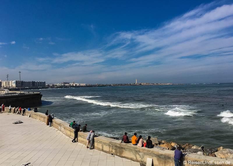 Strandpromenade in Casablanca