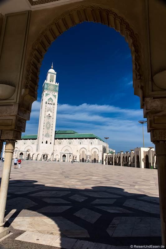 Blick auf die Sultan II Moschee in Casablanca