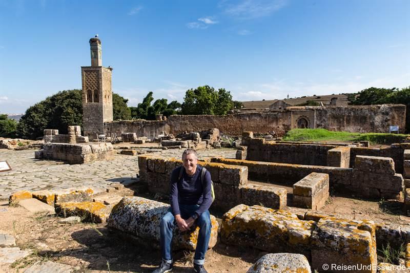 Pause bei der Besichtigung von Chellah bei Rabat