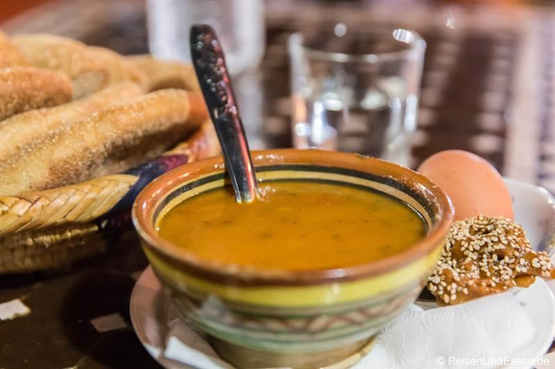 Hariri-Suppe im Dar Naji in Rabat
