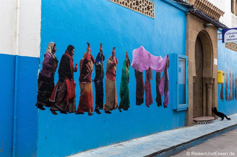 Malerei in der Medina in Rabat